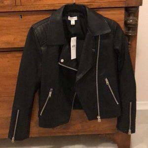 Top shop black leather jacket